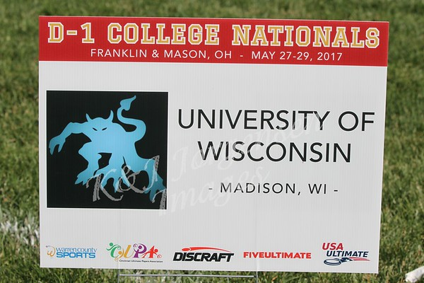 2017 USA Ultimate College Nationals, Mason Ohio - UW Hodags!