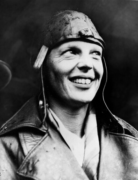 . American aviator Amelia Earhart smiles May 22, 1932 upon arriving in London, England having become the first woman to fly across the Atlantic alone.  (Photo by Getty Images)