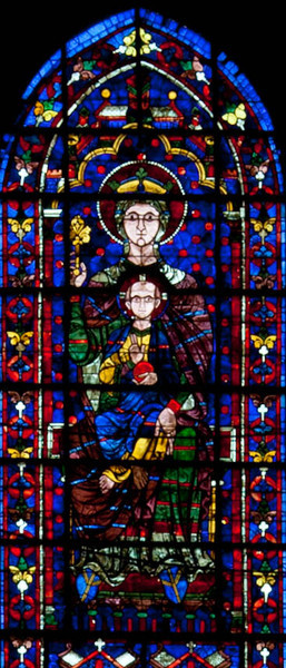 Chartres Cathedral Choir Clerestory Window, The Virgin and Child