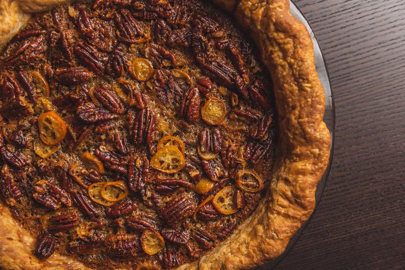 pecan pie with kumquats