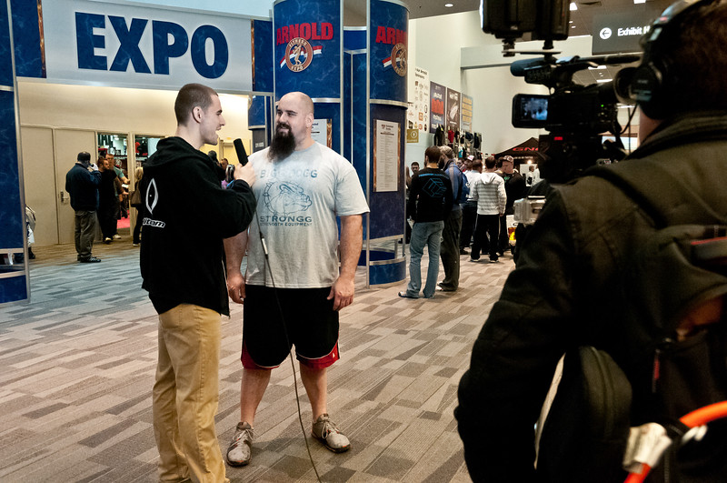 Eric at the Arnold Sports Expo