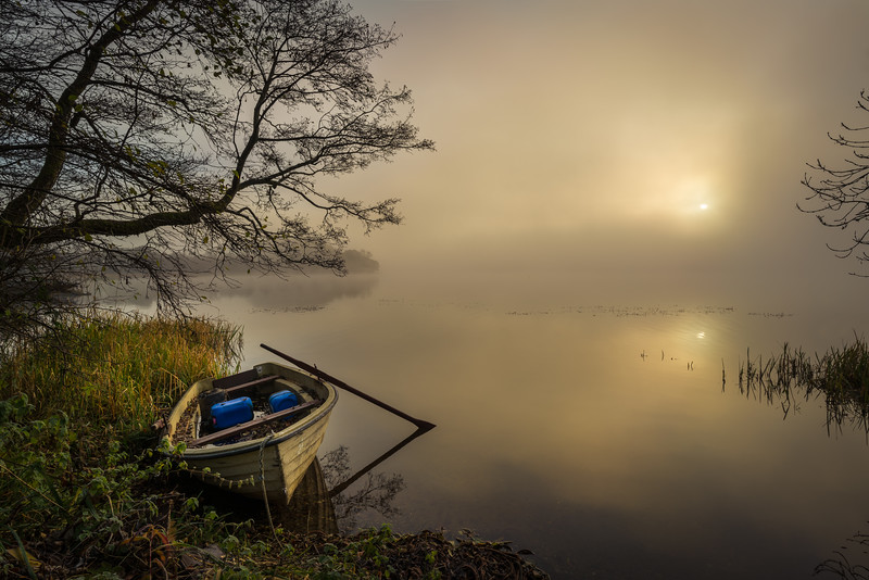 Lake of Menteith mist morning