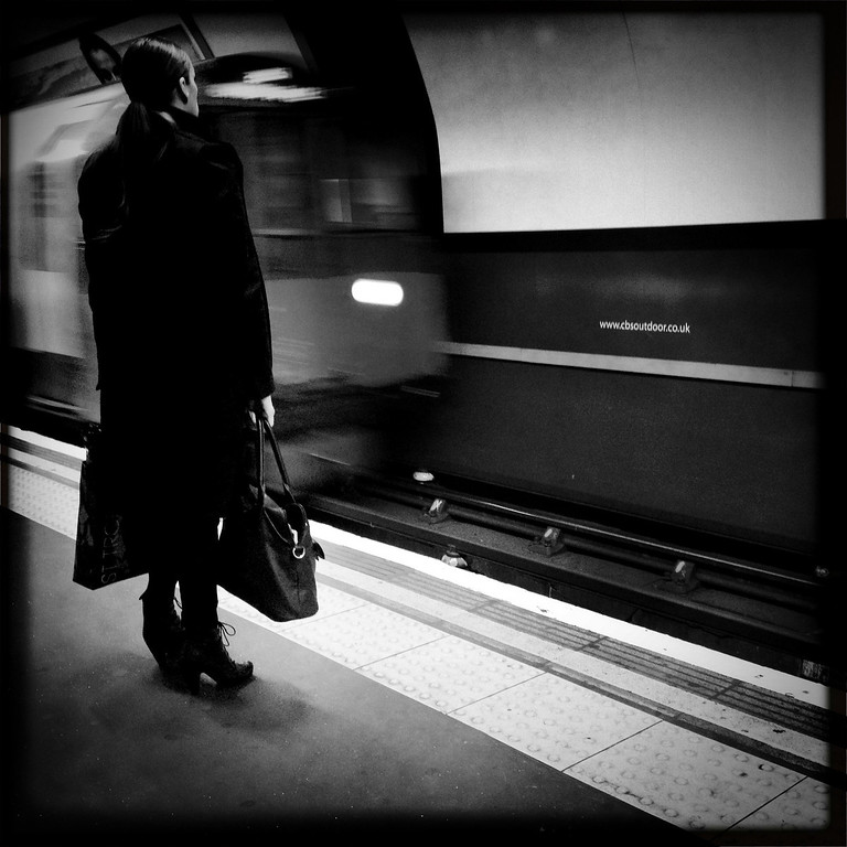 . A woman is waiting for the tube on May 2, 2012 in London, England. (Photo by Vittorio Zunino Celotto/Getty Images)
