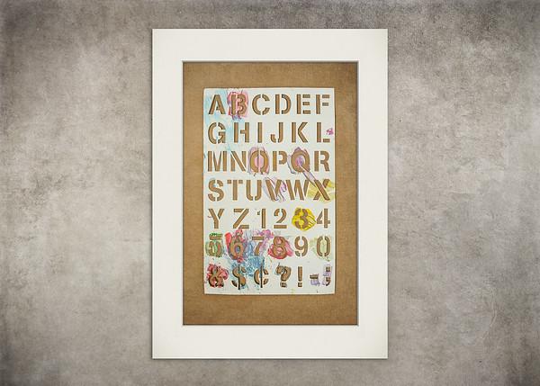 Alphabet Stencil Fun - $5