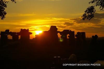 Sunrise over Carhenge