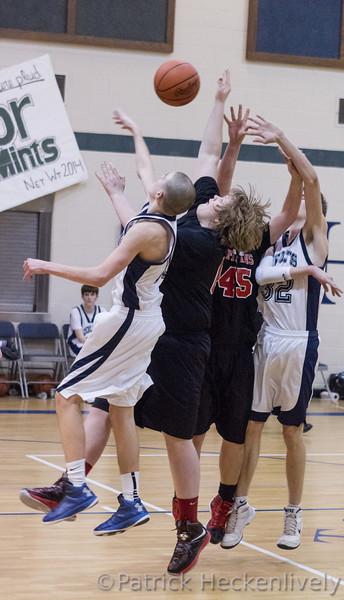 2013-02-08 Hillsdale Academy Boy's Junior Varsity Basketball vs. Waldron - Spirit Stick