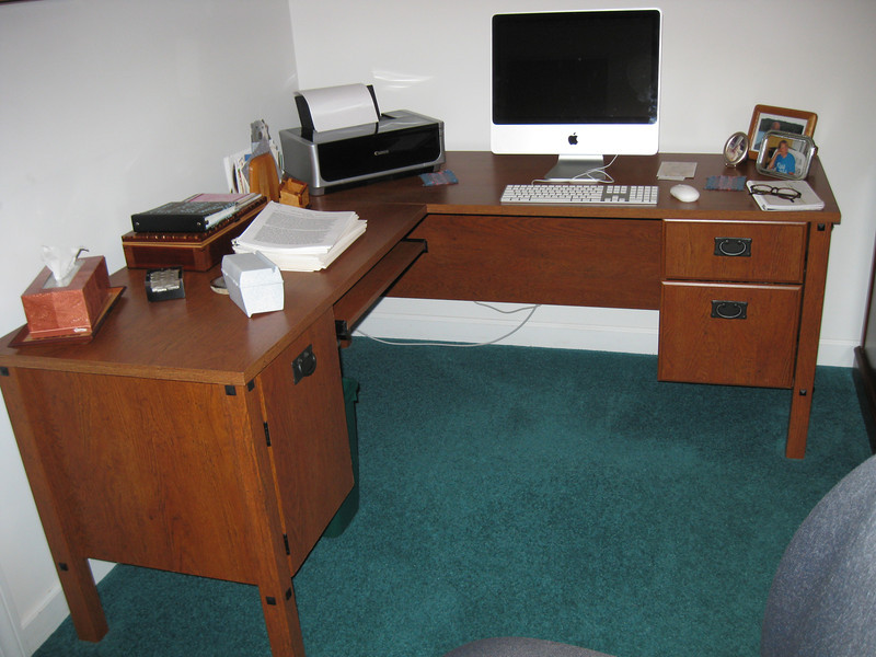 Two-piece Computer table or desk.