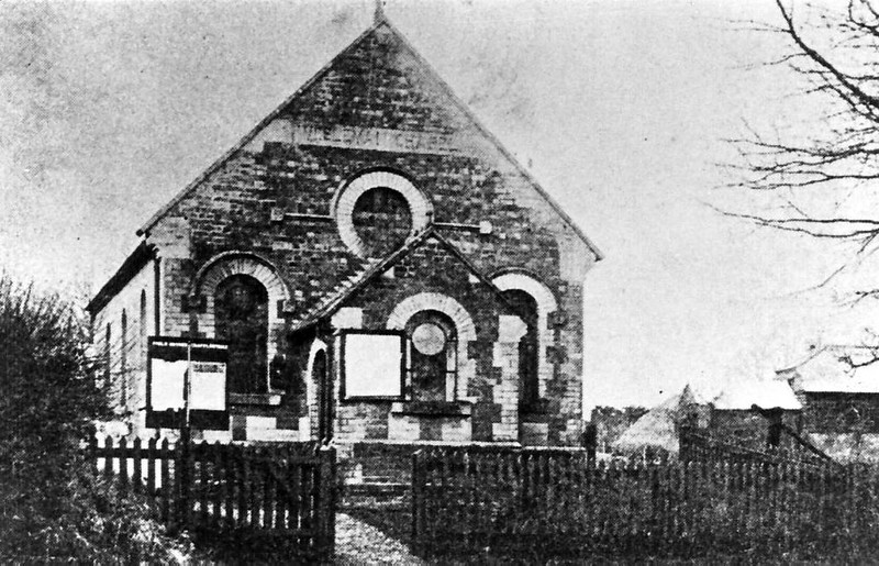 Weslyan Chapel built 1895 and demolished in the 1970s.
