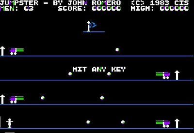 The idea for the game was partially inspired by Olaf Lubeck's 1982 masterpiece Cannonball Blitz.  Without the fun!