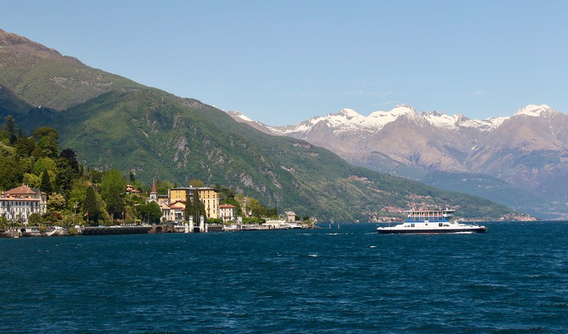 View from ferry of the town of Tremezzo, Lake Como