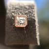 .52ctw Asscher Cut Diamond Bezel Stud Earrings, 18kt Rose Gold 29