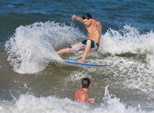 2014 August 6 Keegan and Christopher Surfing