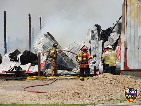 Barn fire on June 15, 2014