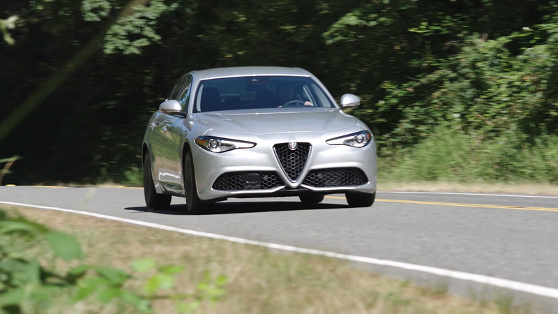 2017 Alfa Romeo Giulia Ti Lusso AWD Driving Reel
