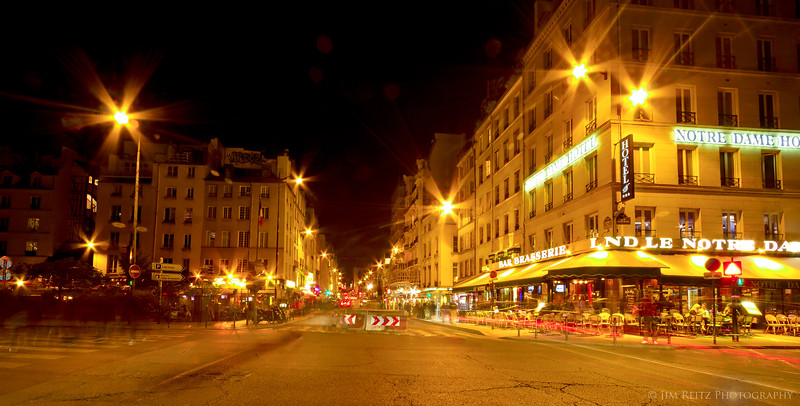 Left bank at night, Paris.