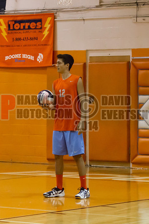Edgewater Eagles @ Boone Braves Boys Varsity Volleyball - 2014