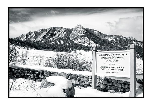 Boulder Flatirons Colorado
