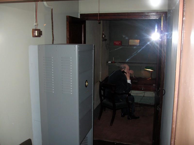 Churchill inside the secret Transatlantic Telephone Room