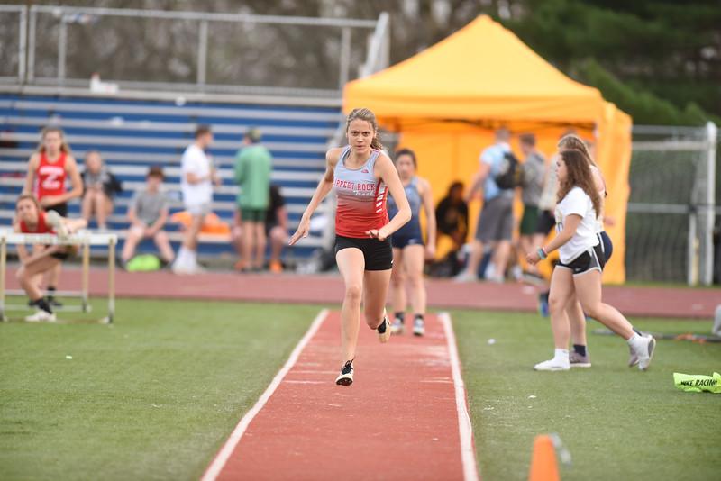 Slippery Roch triple jumper Emma McDermott at Butler Invitational. Seb Foltz/ Butler Eagle