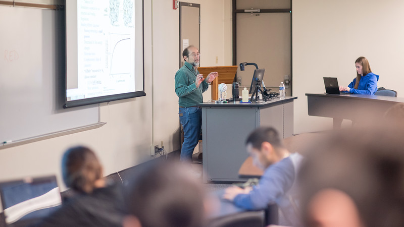 Dr. Kirk Cammarata goes over binding affinity during his Molecular Biology lecture.