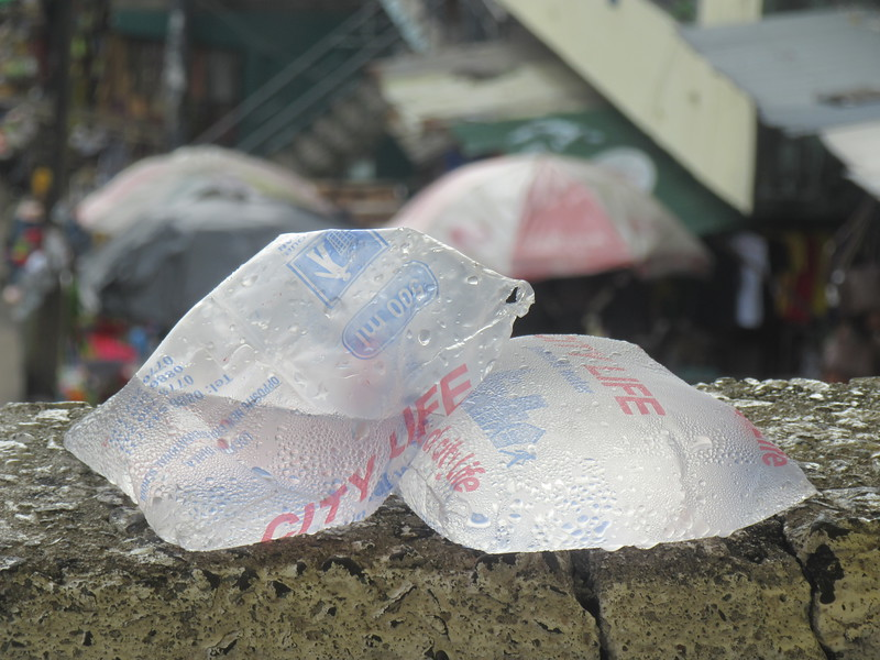 033_Monrovia. Small bag of water. Cost 0.05$ US.JPG