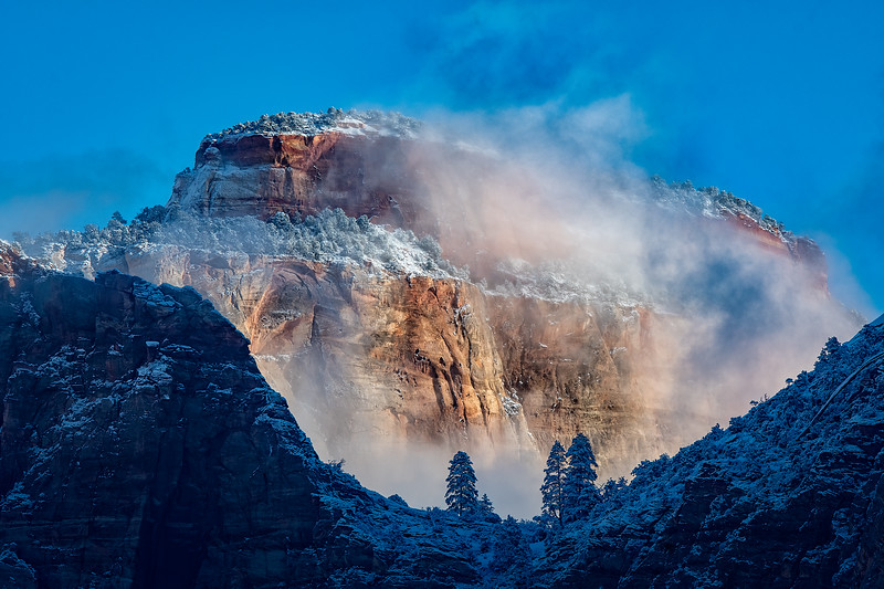 Zion Clearing Winter Clouds