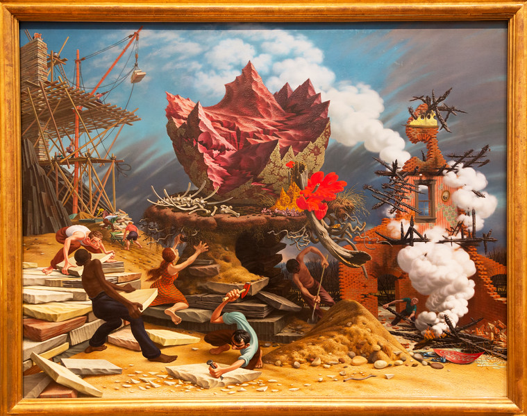 """Peter Blume: """" The Rock,"""" 1944/8"""