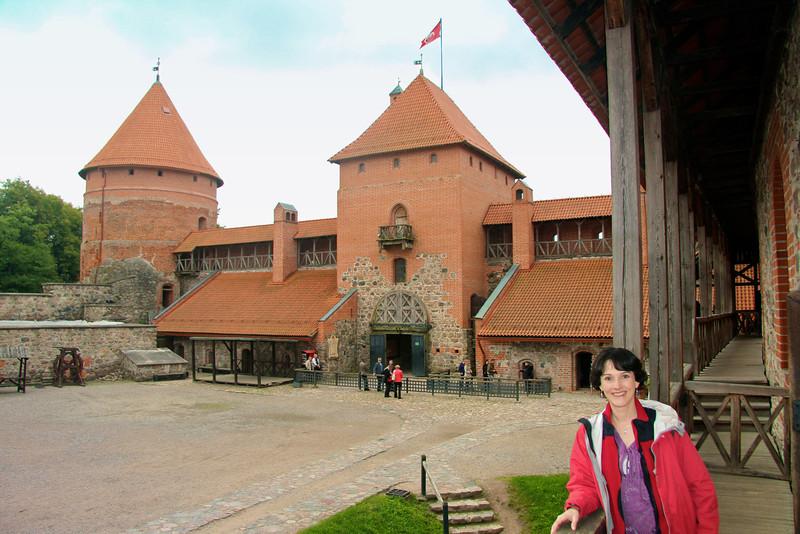 Inner Courtyard of Trakai Castle -Lithuania