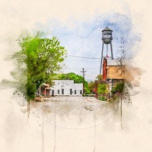 New Braunfels in Watercolor