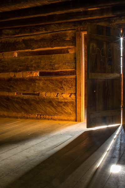 Interior Cades Cove Cabin