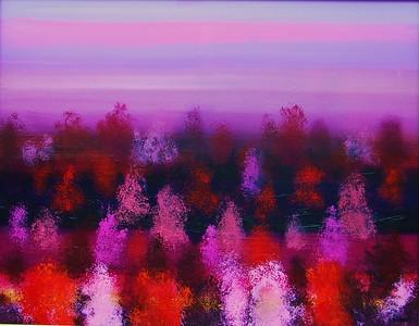 """CHERRY MIRAGE (Tree Love)"" (acrylic) by Audrey Caywood"