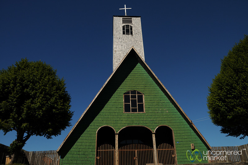 Adorable Wooden Church in Curaco - Chiloe, Chile