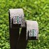 Art Deco Diamond and Emerald Disc Earrings 15