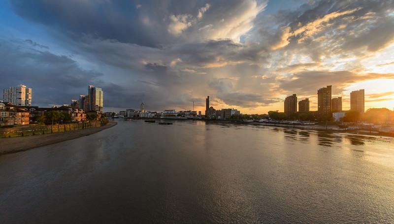 Battersea and Chelsea riverside sunset
