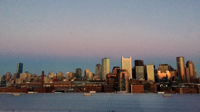 Boston from the Rennasaince Hotel.