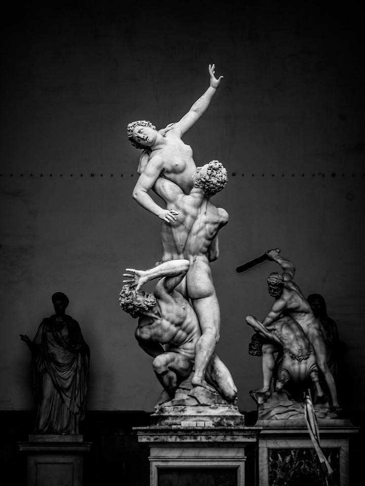 意大利佛罗伦萨,走在西格诺里亚广场