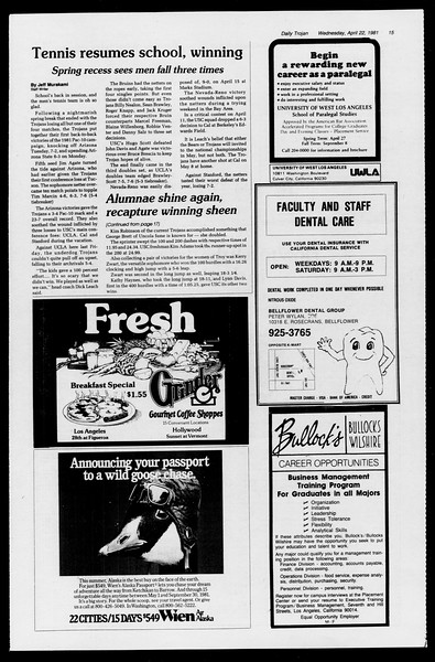 Daily Trojan, Vol. 90, No. 46, April 22, 1981
