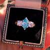 1.73ctw Blue Marquise Cut Diamond Trilogy Ring 9