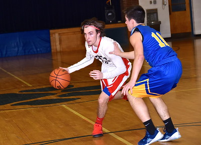 LTS Boys Varsity Basketball vs Poultney photos by Gary Baker
