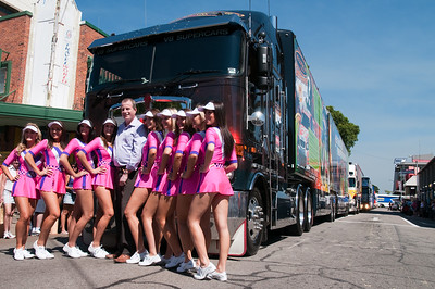 V8 Supercar Transporters come to Darwin City