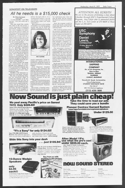 Daily Trojan, Vol. 71, No. 20, March 09, 1977