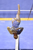 MORGANTOWN, WV - MARCH 8: WVU gymnast Zaakira Muhammad competes on the balance beam during a dual meet March 8, 2015 in Morgantown, WV.