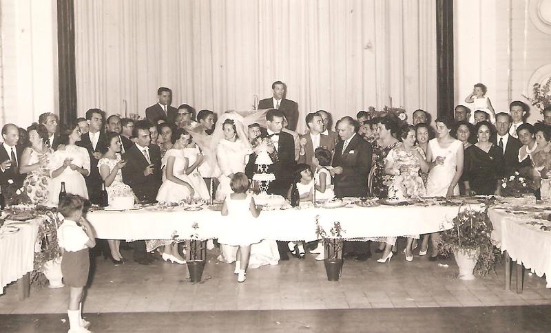 Dundo. 18/04/1960. ANITA BASTOS E VASCO PAULO.Banquete na Casa do Pessoal