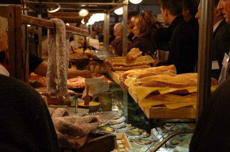 Cheese and Bread at Salon de Vin - Strasbourg, France