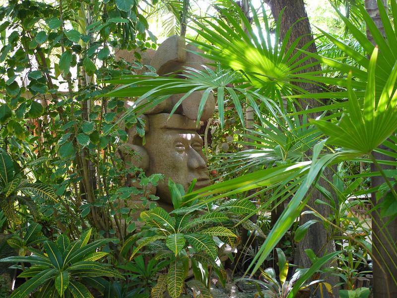 Ramon's.  Mayan God statute.