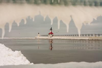 Frozen St. Joe Pier 1 7 17