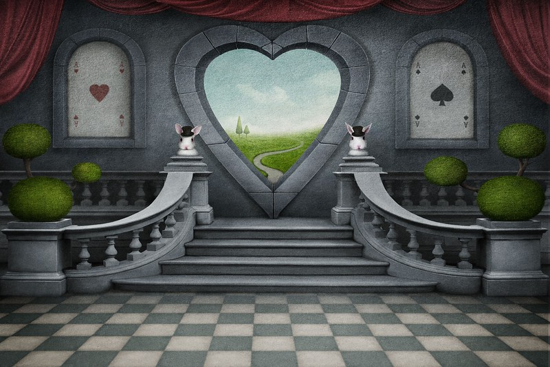 Fantastic background and door of heart.