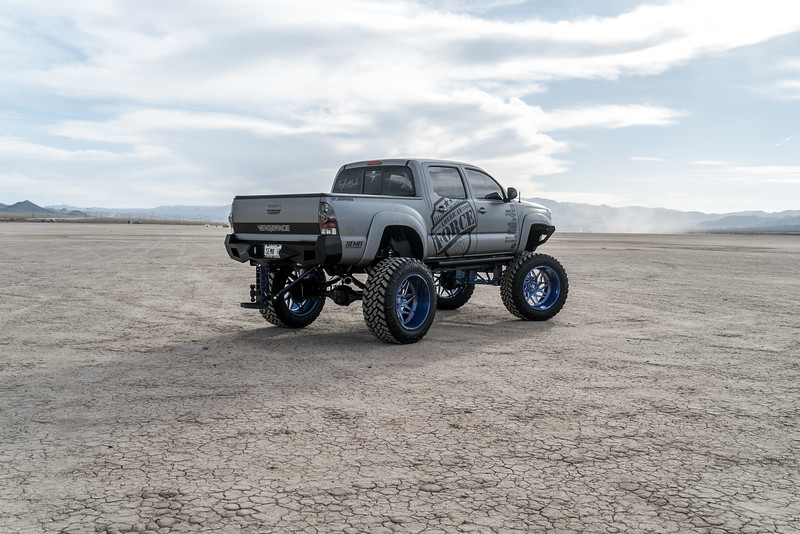 @T_harper96 @Vengeance_tacoma 2005-15 Toyota Tacoma featuring our New 2019 Concave 24x14 Lollipop Blue #GENESIS wrapped in 40x1550x24 @NittoTire-78.jpg
