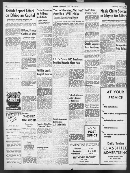 Daily Trojan, Vol. 32, No. 80, February 13, 1941
