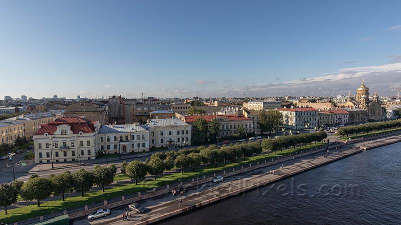St. Petersburg from the Bolshaya River.